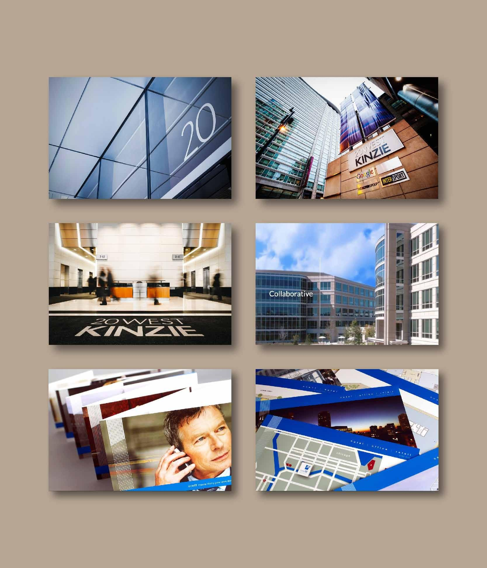 Images of Alter's various locations and brochures.