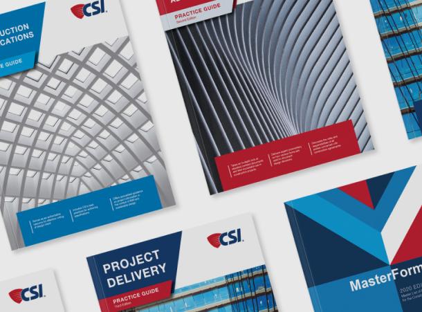 Covers of various CSI manuals.