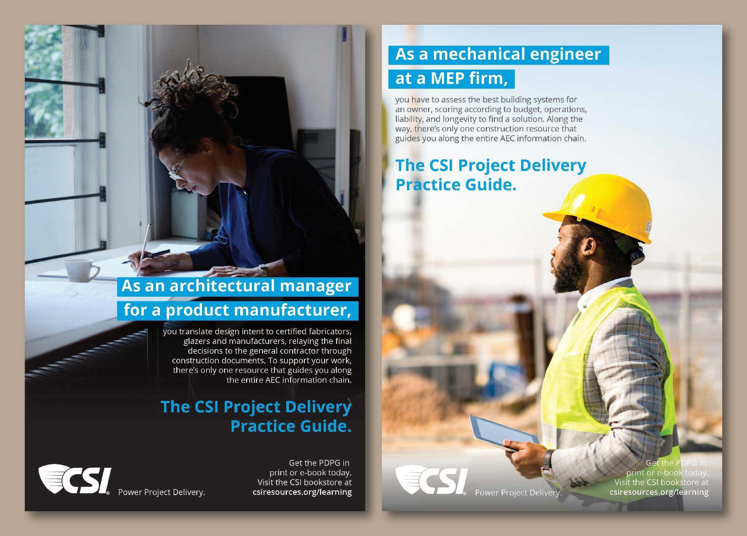 Print ads for the CSI PDPG manual.