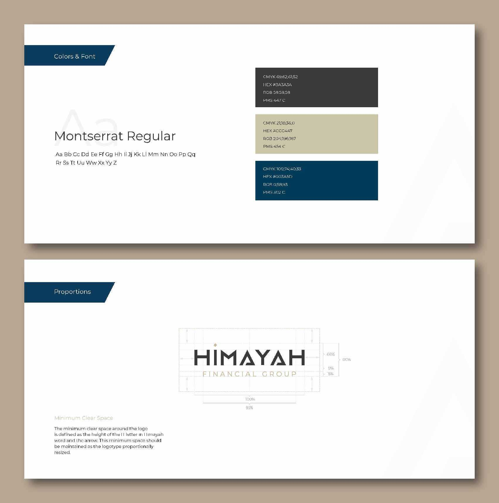 Logo guide for the Himayah logo.