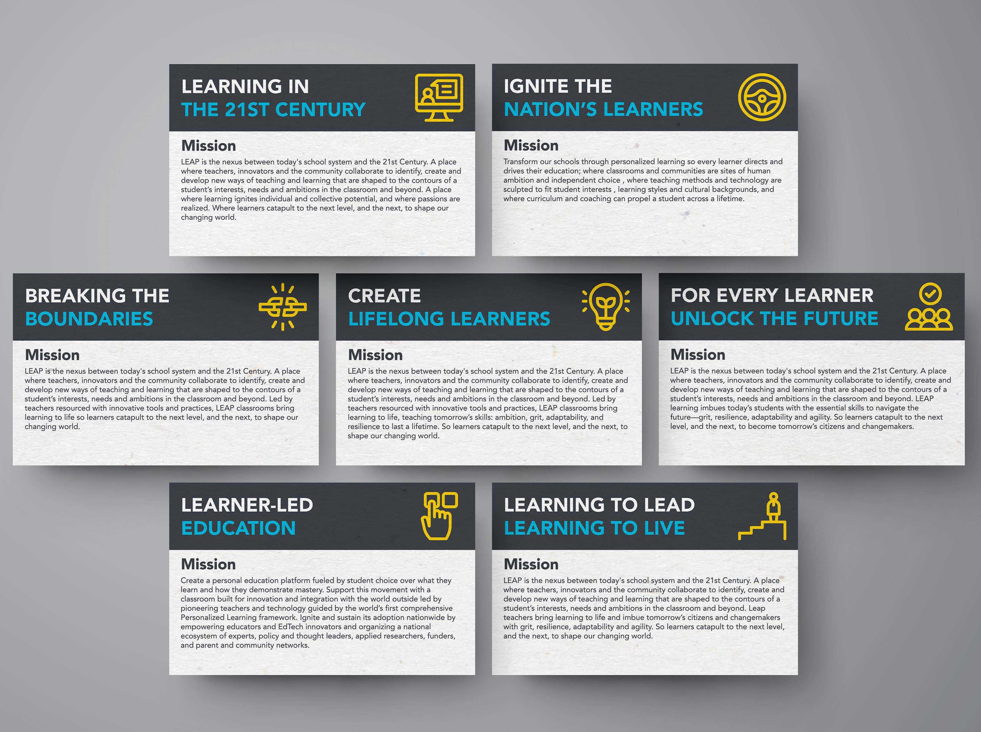 Vision statements for Leap Innovations.