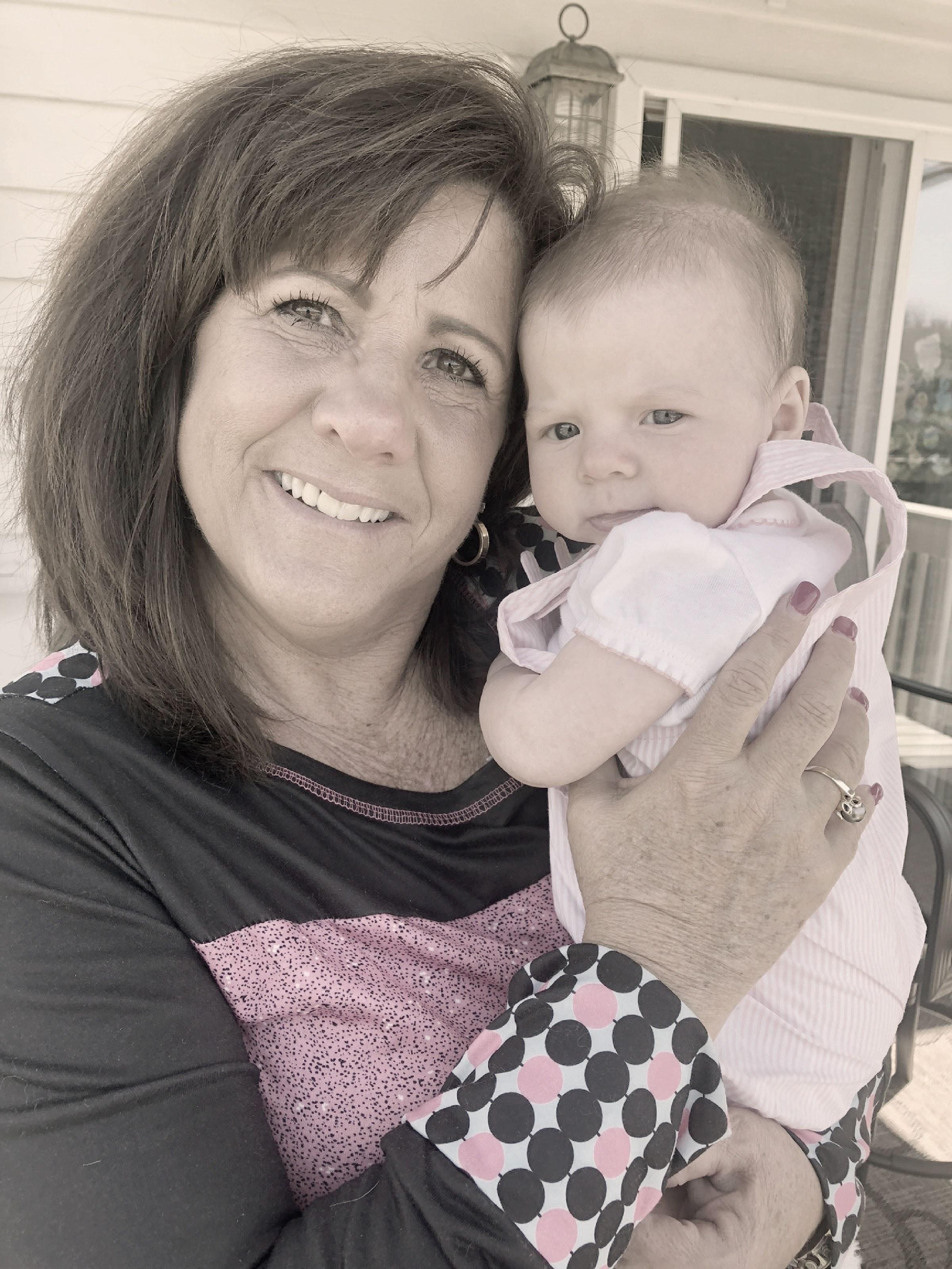 LaVonne Kosmen with her grandchild.