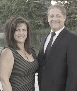 LaVonne Kosmen with her husband.
