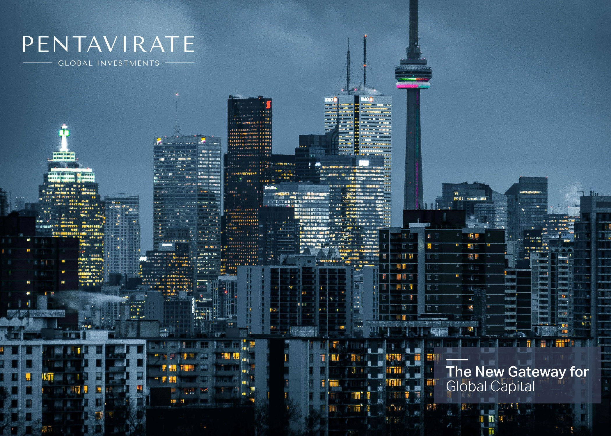 Cover of the Pentavirate brochure.