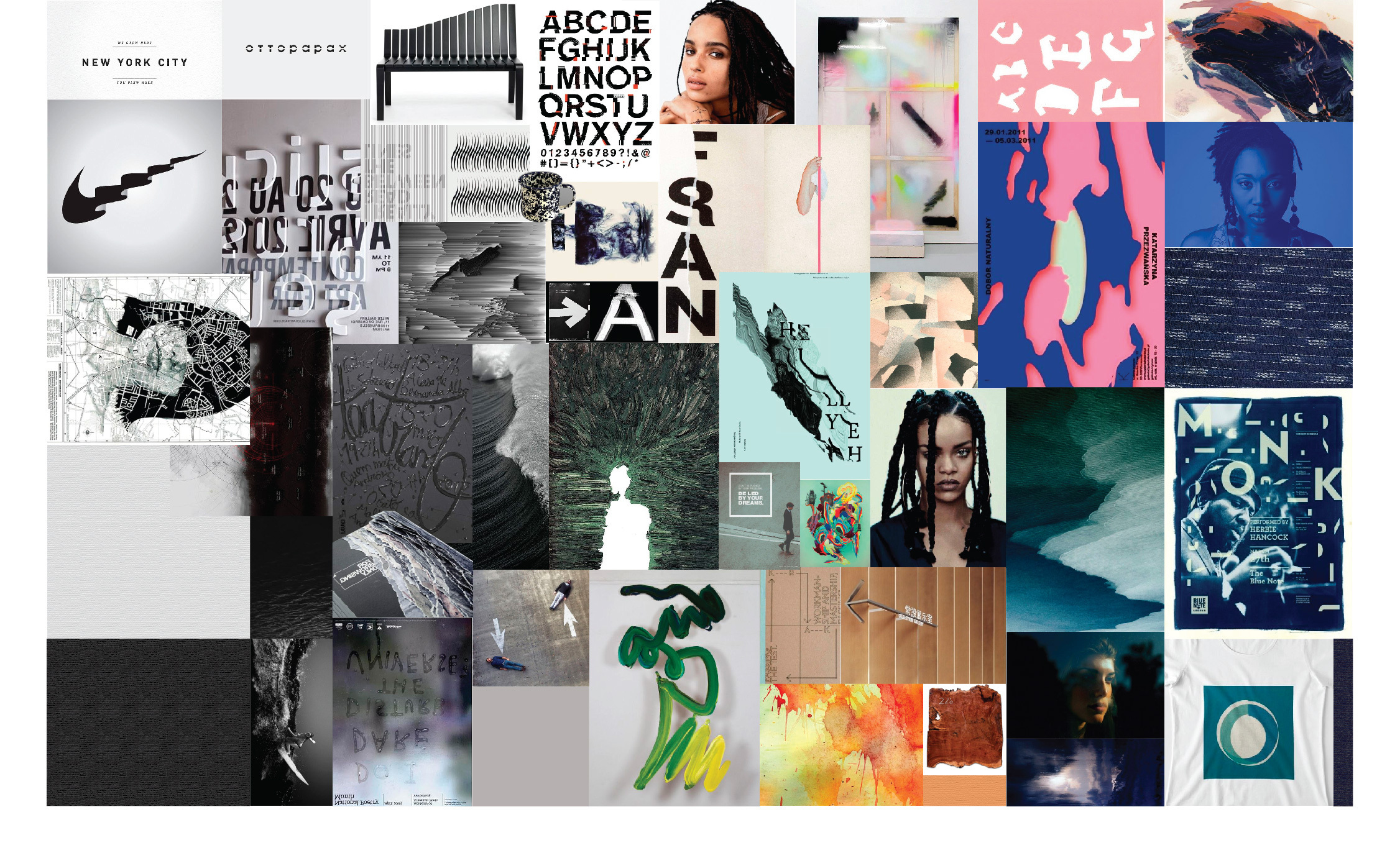 Images for the Purpose moodboard.