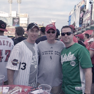 Scott Solverson at a baseball game.