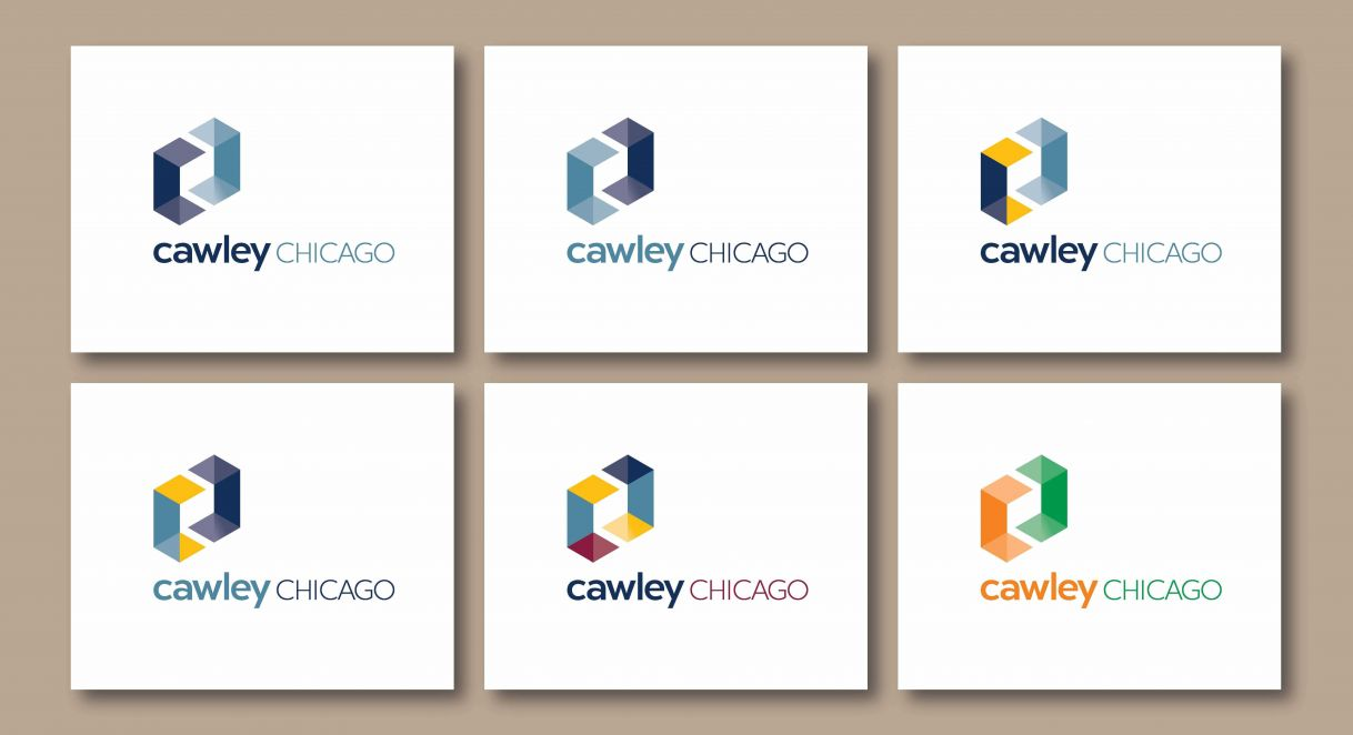 Logo drafts for Cawley Chicago.
